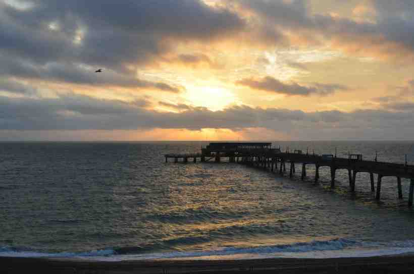 Deal sunrise over pier copy